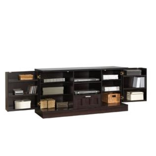 Baxton Studio Tosato Shaker-Style Brown Wood TV Stand and Media Cabinet
