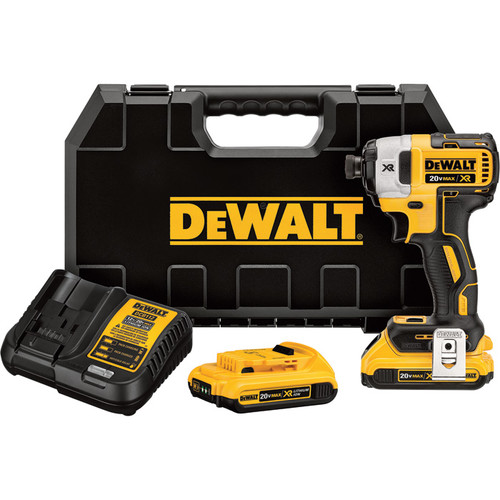 DEWALT 20V MAX XR Cordless Brushless Impact Driver Kit with Hex Drive  1/4in. Drive, 152 Ft.-Lbs. Torque, 2 Batteries, Model# DCF887D2
