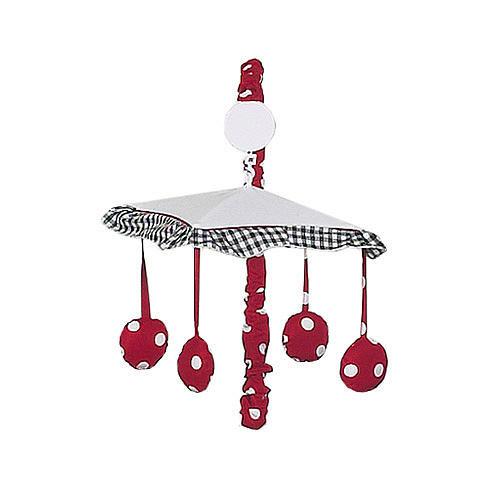 Sweet Jojo Designs Polka Dot Ladybug Collection Musical Mobile