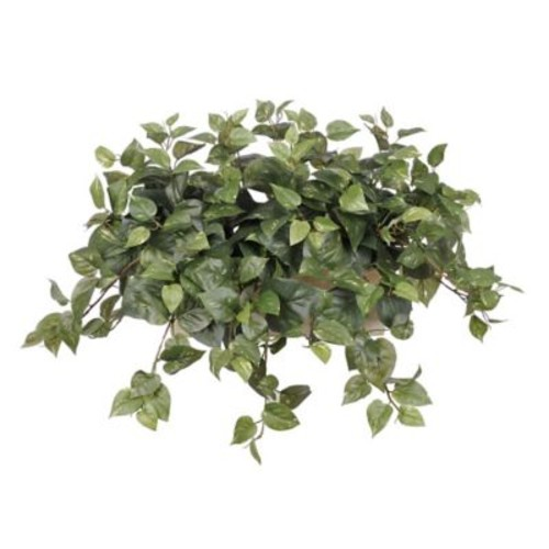 House of Silk Flowers Artificial Pothos Desk Top Plant in Planter