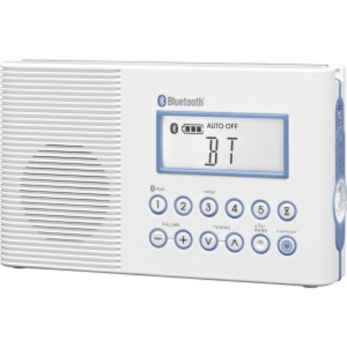Sangean H202 AM/FM/Weather, Digital tuned Waterproof/Shower Radio with Bluetooth [Radio with Bluetooth]