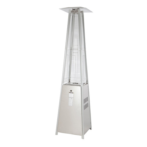 Fire Sense Stainless Steel Pyramid Flame Patio Heater