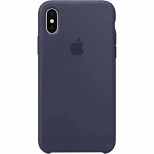 Apple Silicone Case for iPhone X - Midnight Blue