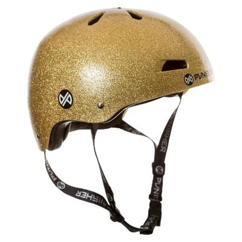 Punisher Skateboards Pro 13-Vent Dual Safety BMX Bike and Skateboard Helmet - Gold (Medium)