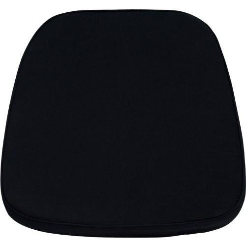 Flash Furniture Soft Black Fabric Chiavari Chair Cushion [Black, Home & Garden]