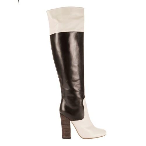 DEREK LAM Colorblock Knee High Boots