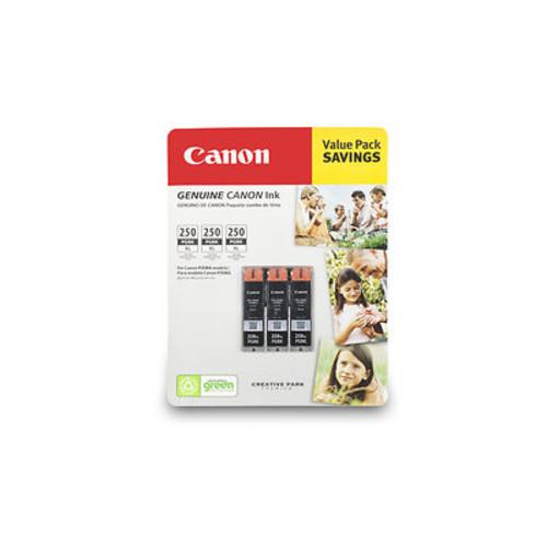 Canon PG-250XL Black Ink Cartridges, 3 Pack