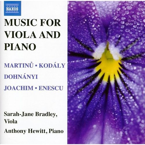 Music for Viola and Piano [CD]