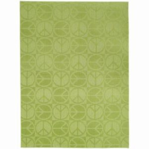 Garland Rug Large Peace Lime 7 ft. 6 in. x 9 ft. 6 in. Area Rug