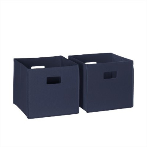 RiverRidge Kids Orange 2-pc. Folding Storage Bin Set