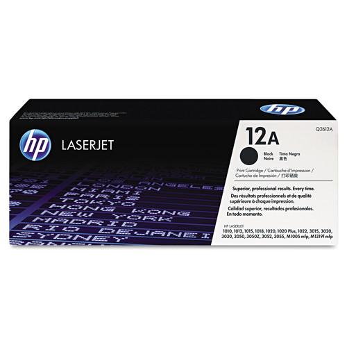 HP HP 12A, (Q2612A) Black Original LaserJet Toner Cartridge