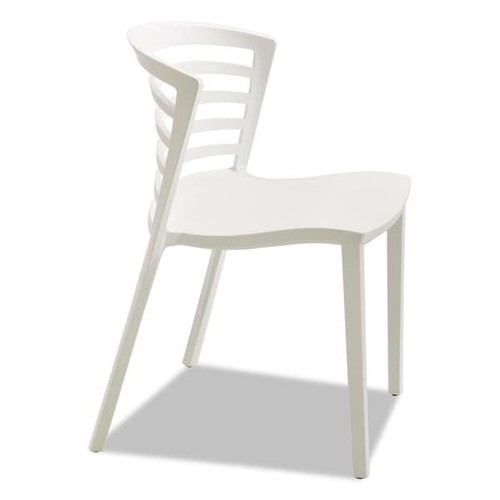 Safco Entourage Stack Chair White 4 per Carton - White