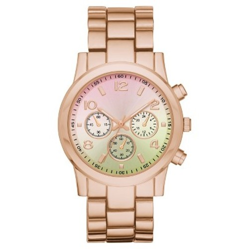 Women's Xhilaration Bracelet Watch with Colored Ombre Dial - Rose G