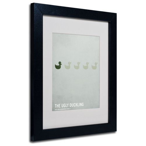 The Ugly Duckling Artwork by Christian Jackson in Black Frame, 11 by 14-Inch
