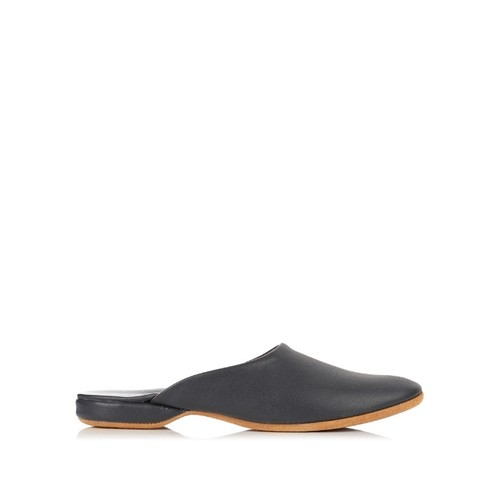 Morgan leather slipper shoes