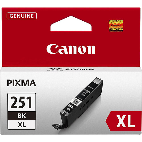Canon CLI-251 Black XL Ink Tank for PIXMA iP7220, MG5420, MG6620 Printers