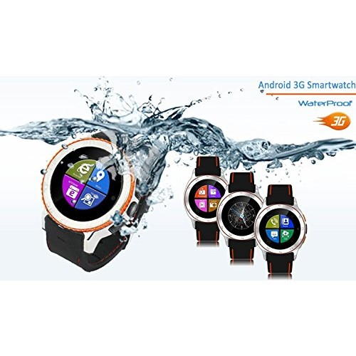 Indigi GSM UNLOCKED! Android 4.4 Smartphone Watch 3G+WiFi Google Play Store Waterproof! Smart Watches Unlocked Smartphone