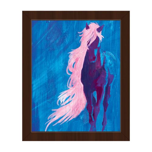 Crazy Horse' Espress Finish Plastic Framed Canvas Wall Art