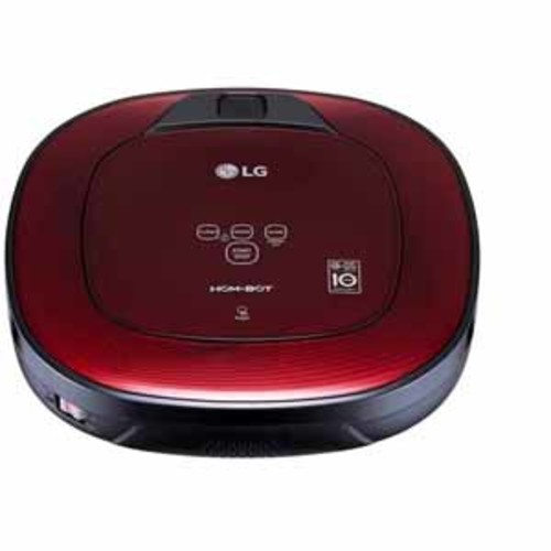 LG HOM-BOT Square Robotic Wi-Fi Enabled Vacuum - Ruby Red
