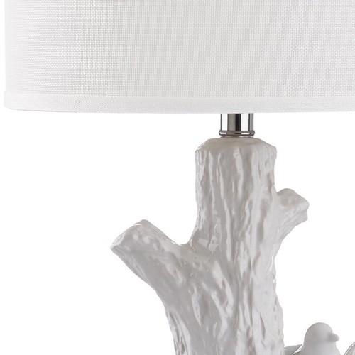 Safavieh Lighting 27-inch Lightwood White Tree Table Lamp