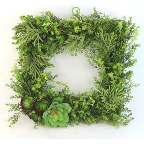George Oliver Artificial Plant 20'' Succulent Wreath