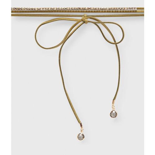 Smoky Lariat Choker Short-Strand Necklace