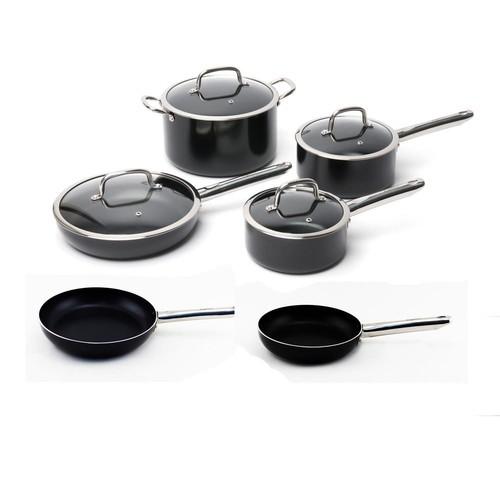 BergHOFF Boreal 10-Piece Non-Stick Aluminum Cookware Set with Lids